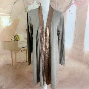 NEW Soft Surroundings Crystal Sequin Cardigan
